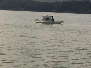 Members of the Cherokee County Rescue Squad retrieving 4 vehicles from Weiss lake
