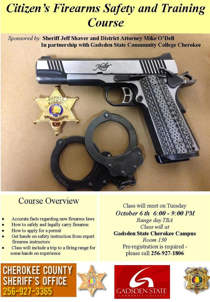 Firearms Class October 6, 2015