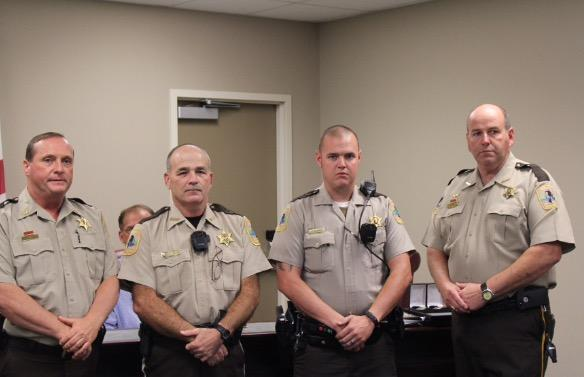 4 members of the Cherokee County Sheriff office in their brown uniforms