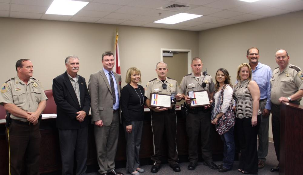 Deputies Jeremy Stepps and David Kirk with their Life-Saving awards