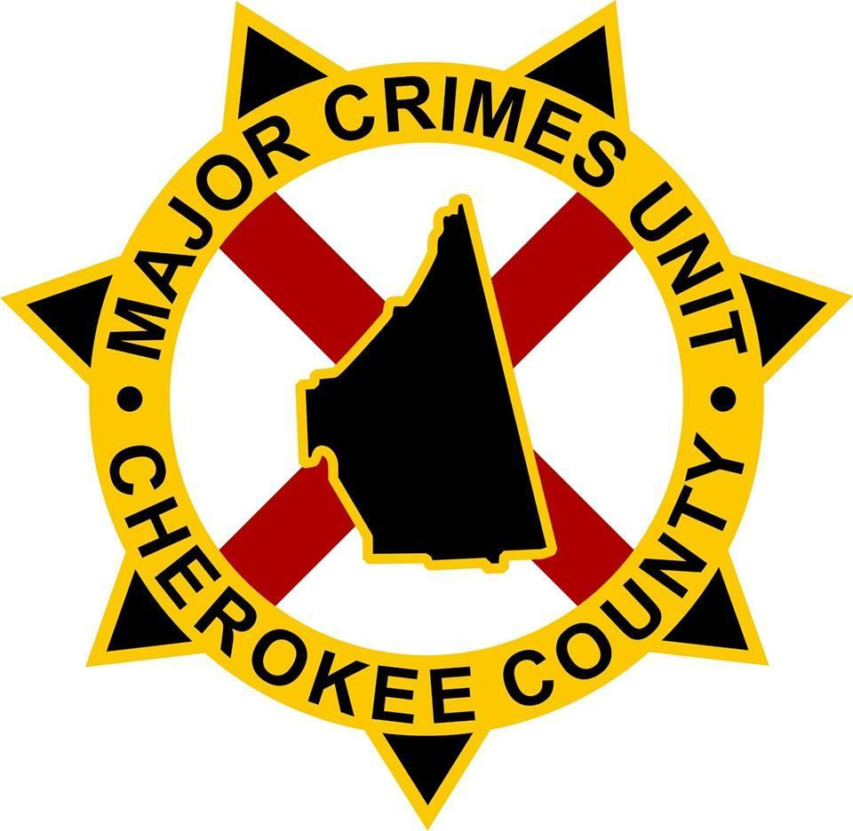 Major Crimes Unit for Cherokee County badge