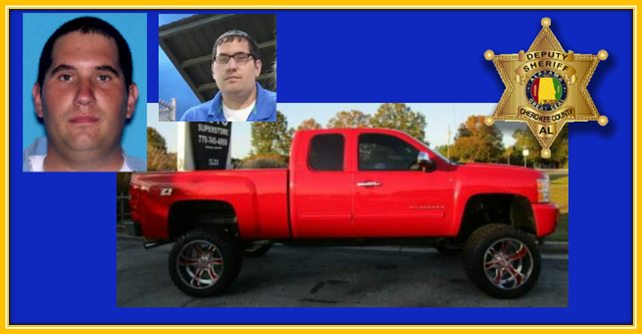 Jeffrey Alan Wilcox, Jr and the red 2011 chevrolet silverado he was last seen driving