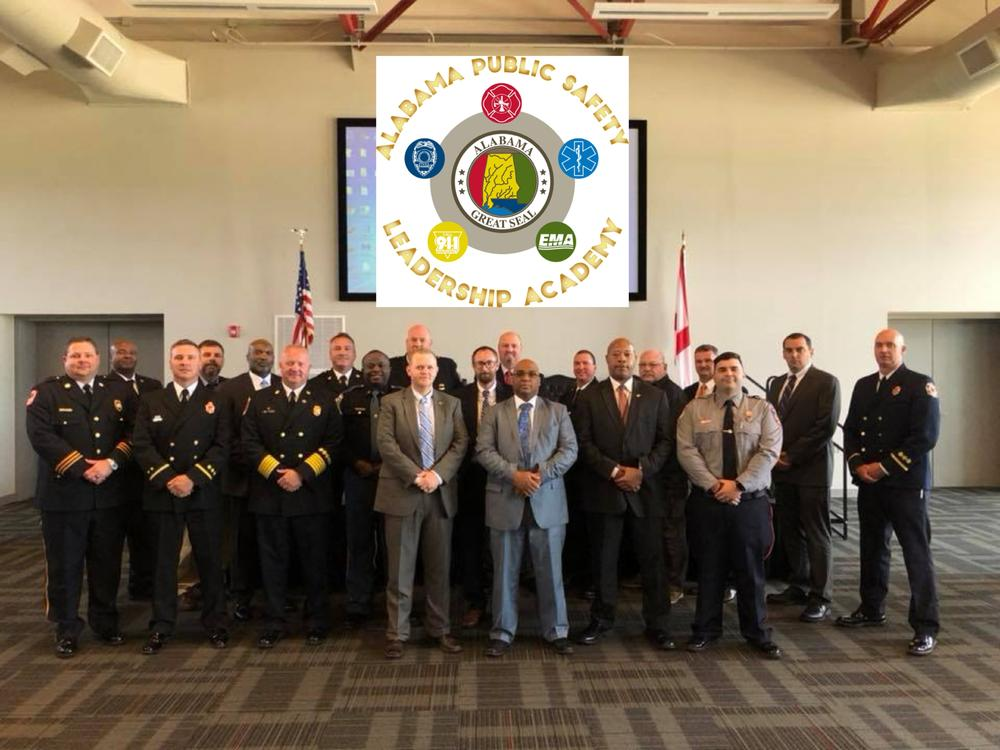 Chief Investigator Josh Summerford with other graduates from the Alabama Public Safety Leadership Academy