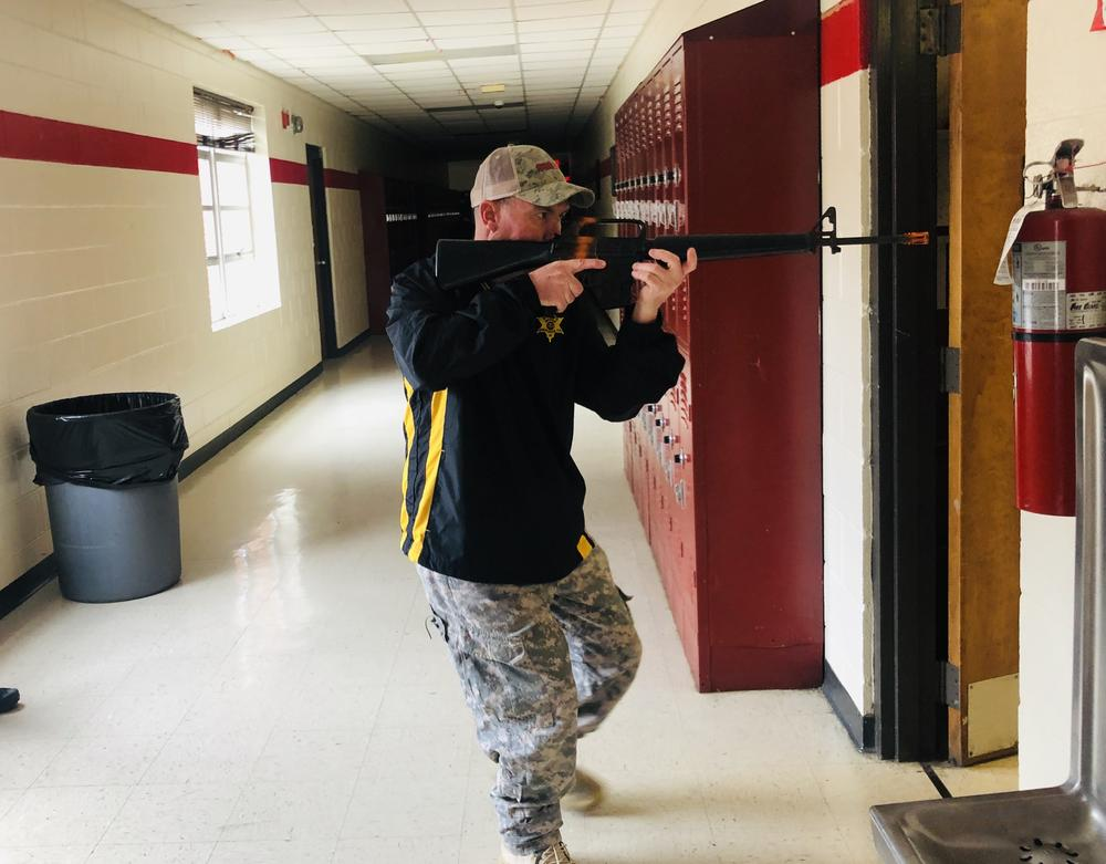 deputy participating in active shooter training