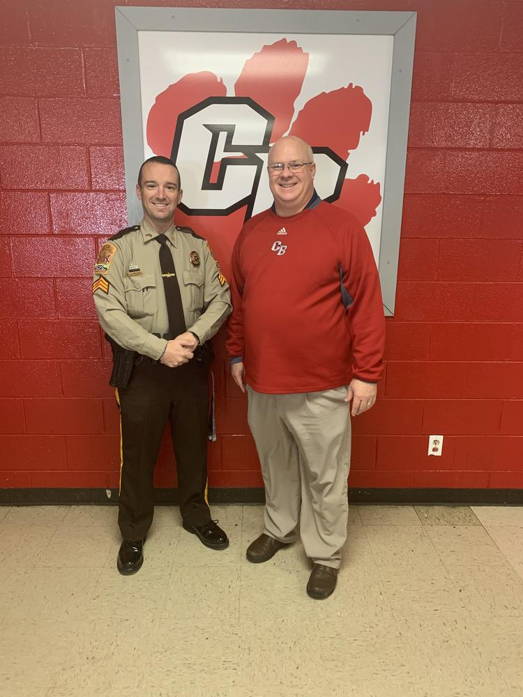 Sgt. Kelley and Principal Thrasher